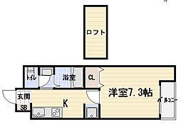 Y's−FLAT[6階]の間取り