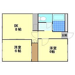 フォレスト新札幌[410号室]の間取り