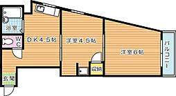 第3サンピア[6階]の間取り