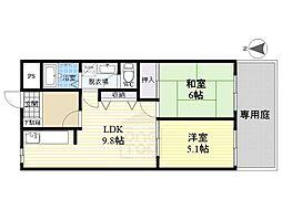 LaVieEnRose[1階]の間取り