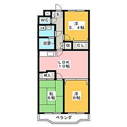 クラウドV[4階]の間取り