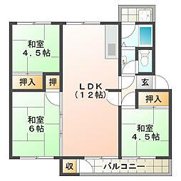 狩口台住宅33号棟[5階]の間取り