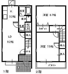 [タウンハウス] 静岡県湖西市駅南3丁目 の賃貸【/】の間取り