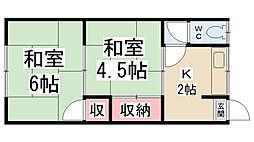 加茂の荘[207号室]の間取り