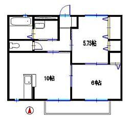コンフォート鵤[2階]の間取り