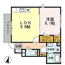 東京都練馬区関町北1丁目の賃貸アパートの間取り