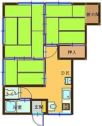 長崎県長崎市水の浦町の賃貸アパートの間取り