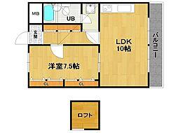 伊丹アイビーコート[6階]の間取り