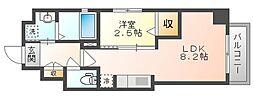 岡山電気軌道清輝橋線 東中央町駅 徒歩4分の賃貸マンション 5階1LDKの間取り