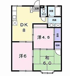 千葉県袖ケ浦市神納の賃貸アパートの間取り