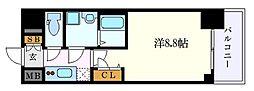 名古屋市営東山線 新栄町駅 徒歩1分の賃貸マンション 3階1Kの間取り