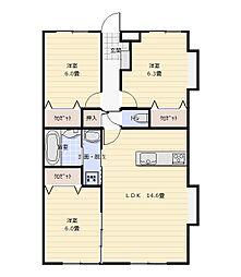 マルマンシティセントロI[3階]の間取り