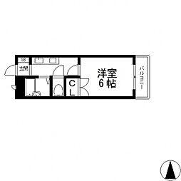 ローズハイツ花園[203号室号室]の間取り
