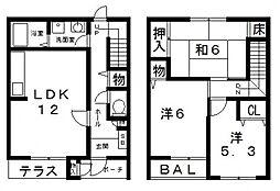[タウンハウス] 大阪府八尾市恩智南町3丁目 の賃貸【/】の間取り
