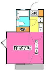 ウィル大和田[1階]の間取り