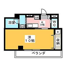 テックハウジング3[4階]の間取り
