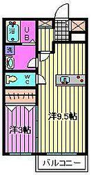 アパートメントK-II[205号室]の間取り