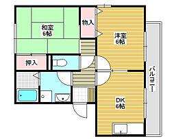 燦コーポA[1階]の間取り