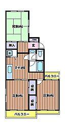 新町ベルメゾン[2階]の間取り