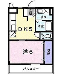 近鉄南大阪線 恵我ノ荘駅 3.2kmの賃貸マンション 1階1DKの間取り