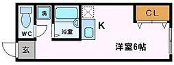 アリタマンション京橋[2階]の間取り