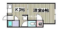 水川コーポ[2階]の間取り