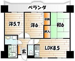 第七泰平ビル[8階]の間取り