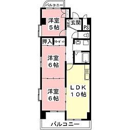 岡部ビレッジ[1階]の間取り