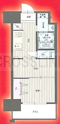 CLUB ORIENT No.122 ETERNITY NISSEKI STREET福岡日赤通り 2階2Kの間取り
