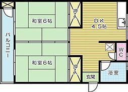赤坂ハイツ[303号室]の間取り