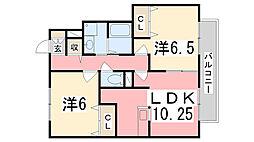 コンフォート高町II[105号室]の間取り