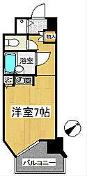 福岡県久留米市諏訪野町の賃貸マンションの間取り