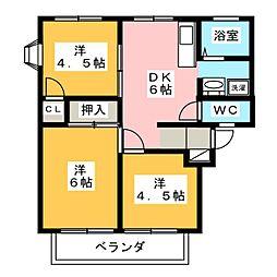 アパートメントハウスF[1階]の間取り