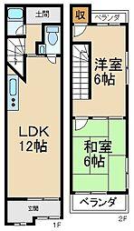 [テラスハウス] 大阪府寝屋川市香里西之町 の賃貸【/】の間取り