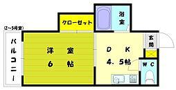 フォーラム和白[2階]の間取り