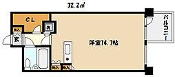 兵庫県芦屋市三条町の賃貸マンションの間取り