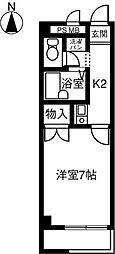 ハイツリーマンション[302号室]の間取り