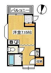 埼玉県草加市栄町2丁目の賃貸アパートの間取り