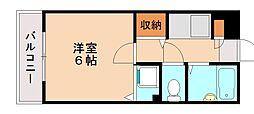 大橋東舛田ビル[1階]の間取り