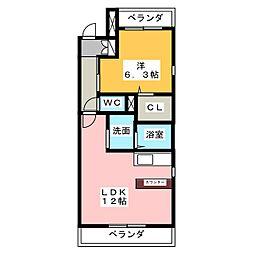 愛知県名古屋市瑞穂区下坂町1丁目の賃貸マンションの間取り