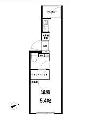 JR中央線 高円寺駅 徒歩11分の賃貸マンション 4階ワンルームの間取り