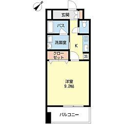 JR越後線 白山駅 徒歩18分の賃貸マンション 10階1Kの間取り