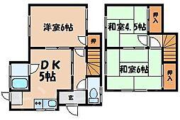 [テラスハウス] 広島県広島市安芸区中野2丁目 の賃貸【/】の間取り