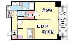 兵庫県神戸市中央区布引町1丁目の賃貸マンションの間取り