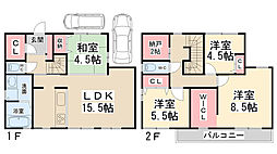 [一戸建] 兵庫県川西市平野1丁目 の賃貸【兵庫県 / 川西市】の間取り
