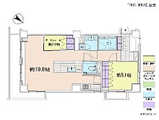 2LDK・専有面積69.61平米・バルコニー面積10.88平米