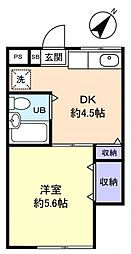 MORAM KITANARA[2階]の間取り