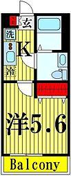 東武伊勢崎線 東向島駅 徒歩8分の賃貸アパート 1階1Kの間取り