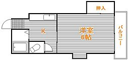 埼玉県朝霞市根岸台6丁目の賃貸アパートの間取り