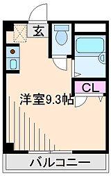 神奈川県横浜市港北区樽町2の賃貸マンションの間取り